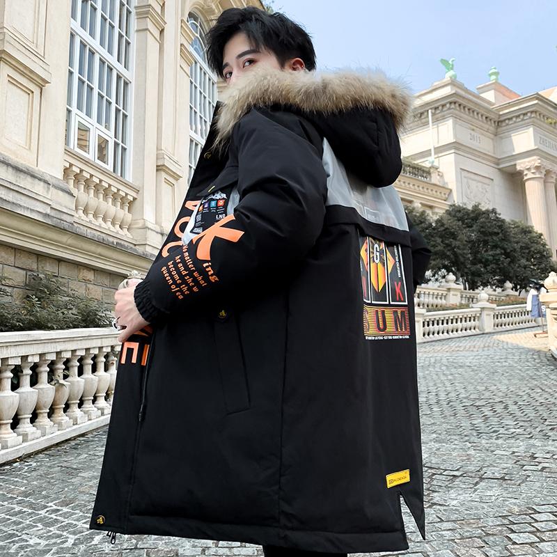 棉衣男冬季外套中长款羽绒棉服青少年派克服学生棉袄男士冬装上衣