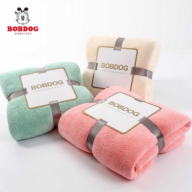 巴布豆婴儿浴巾超柔初生宝宝洗澡新生儿童比纯棉吸水春夏款轻薄