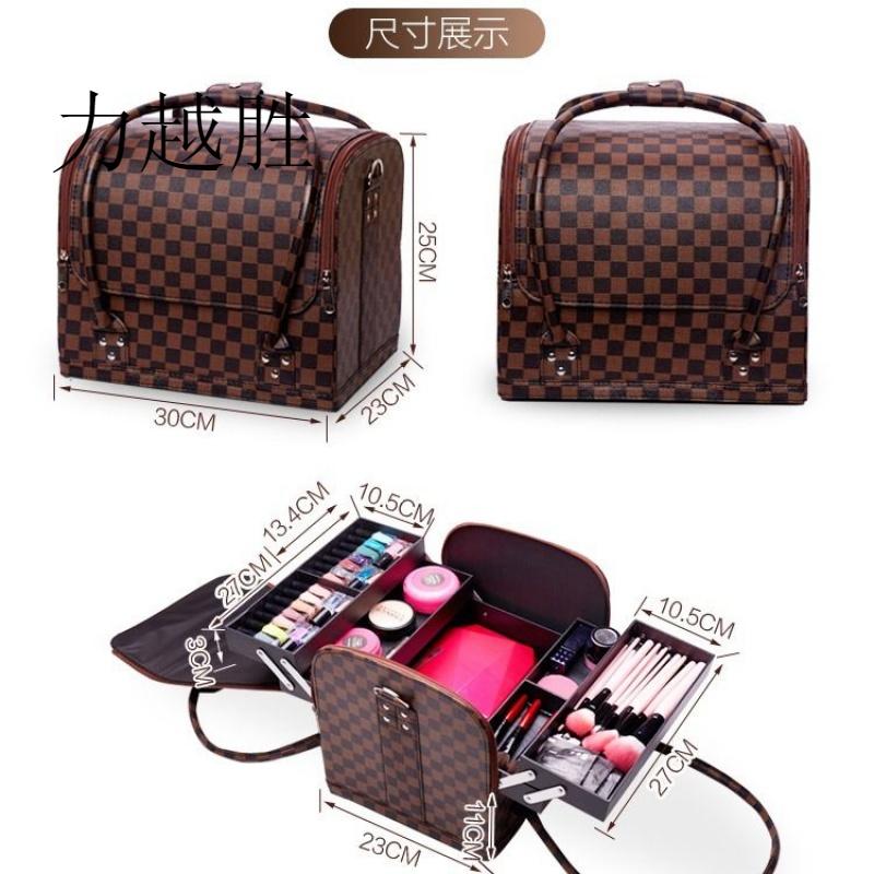 专业大号化妆包大容量手提式化妆箱多层半永久跟妆专用皮包