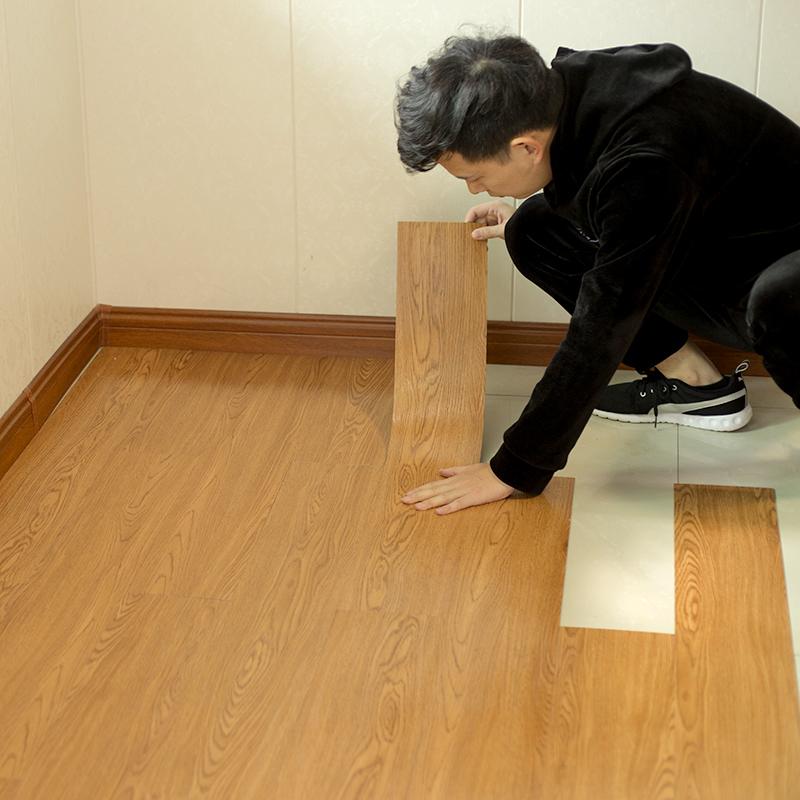5平-PVC地板贴纸自粘地板革水泥地加厚耐磨防水塑胶地板家用地垫