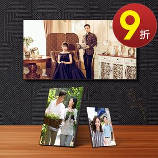 水晶摆台制作拉米娜木版画照片定制相片框冲印大韩放大挂墙婚纱照图片