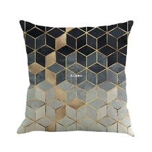 Geometry Painting Linen Cushion Cover Throw Pillow Case Sofa