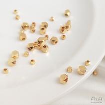 14K包金保色切角珠多边形切面散珠隔珠diy手工串珠材料首饰品配件
