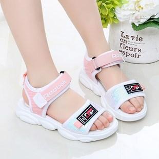 女童凉鞋0夏新款网红底韩版男童沙滩鞋中大童公主休闲凉鞋图片