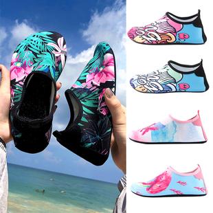 2020新款沙滩鞋男士海边时尚女涉水潜水游泳溯溪浮潜防滑软底凉鞋图片