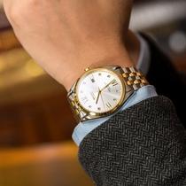宾爵听风者真钻珠宝间金男手表进口机芯商务防水全自动机械表腕表