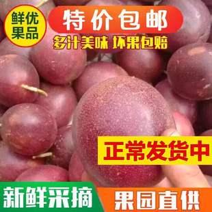 包邮紫皮摘鲜果现新鲜特级食用鲜遍天百香果嘉天下百香果
