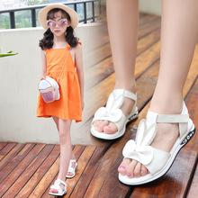 3-12岁11女孩子10夏天9(小)lu138女童ft装5公主凉鞋子4软底鞋子