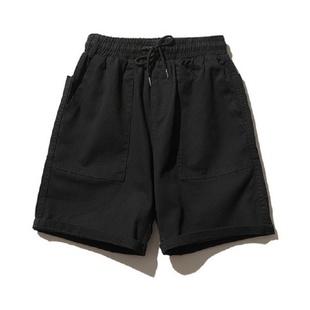 港风ins潮牌工装短裤男夏季日系简约直筒休闲裤宽松五分裤