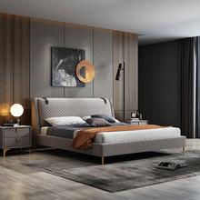 北欧科技布布艺床现代简约意式ls11简可拆op8米双高箱储物床