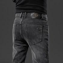 香港高端牛仔裤男欧洲站潮牌男装长裤春夏款小脚修身韩版弹力男裤