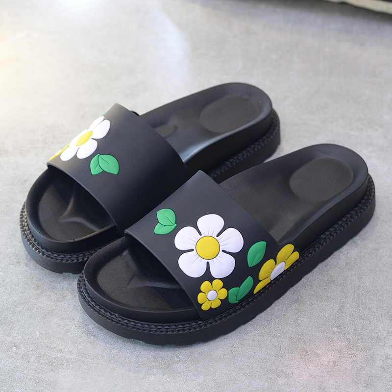 厚底花鞋-绿色