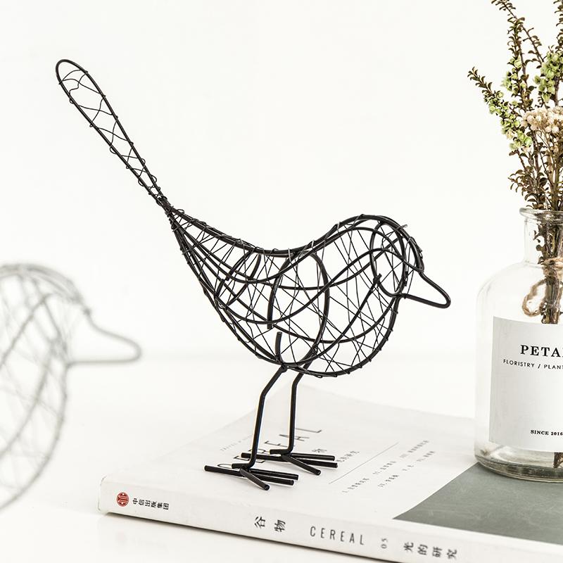 创意个性铁艺可爱小鸟房间卧室摆设  ins家居装饰品摆件生日礼物