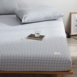 水洗棉床笠单件纯棉床罩全棉席梦思床垫保护套子1.5m/1.8米可定制