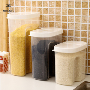 Japanese and craftsman kitchen supplies dry goods grains storage tank millet barrel rice box seal buckle moisture-proof and insect-proof