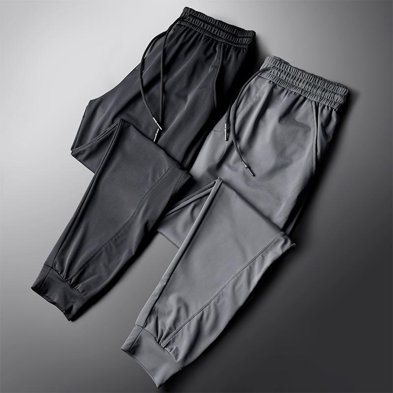 冰丝休闲裤男丝滑运动裤夏季薄款空调裤宽松卫裤速干2020新款潮