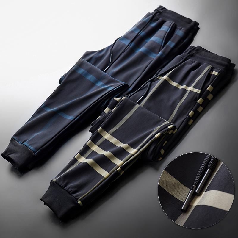 格子裤男春季宽松休闲长裤春秋款男士束脚裤英伦2020新款潮流日系