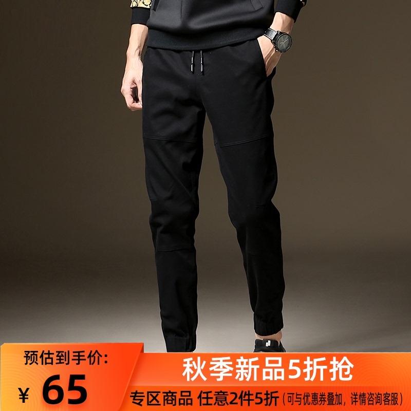 工装休闲裤男士束脚秋季修身运动裤小脚裤子男2020新款韩版潮流
