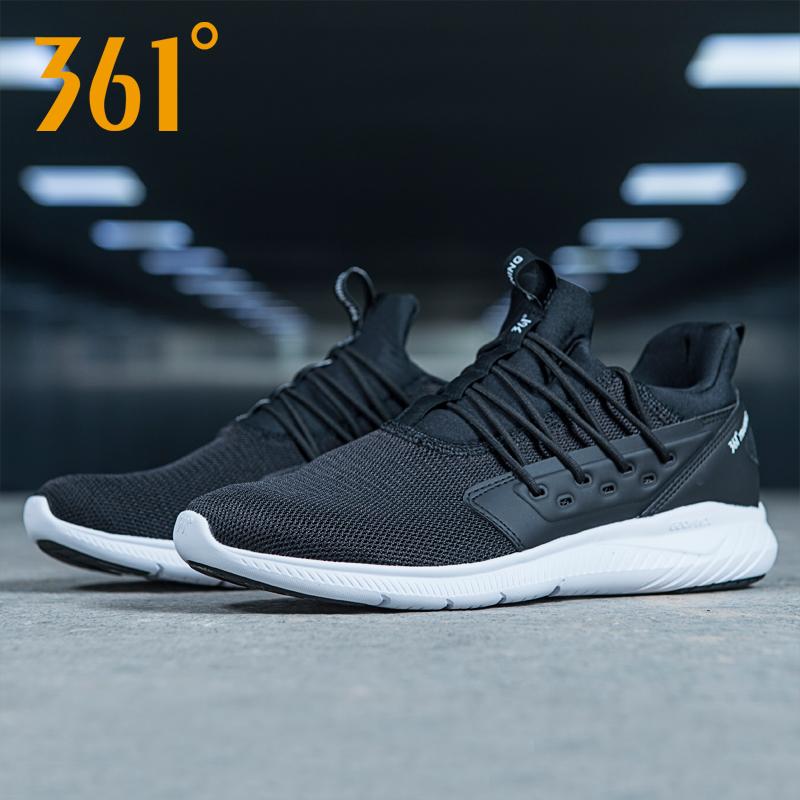 361男鞋 运动鞋2019冬季新款361度网鞋跑步鞋网面透气休闲鞋跑鞋H