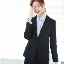 OFFIY-Lead(小)lu8装外套女ft端黑色正式职业西装女套装韩款