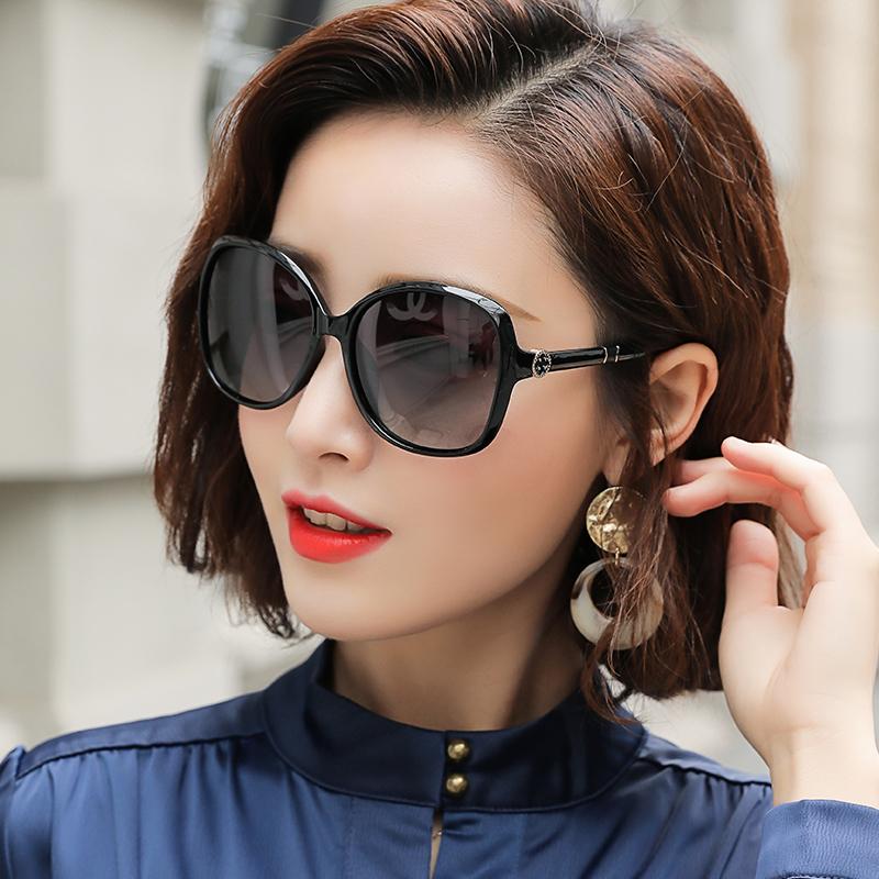 墨镜女2020年新款偏光太阳镜圆脸女式明星款大脸优雅防紫外线眼镜