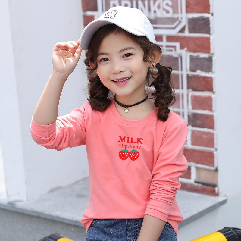 童装女童长袖T恤春秋洋气打底衫中大童纯棉体恤2019新款儿童春装