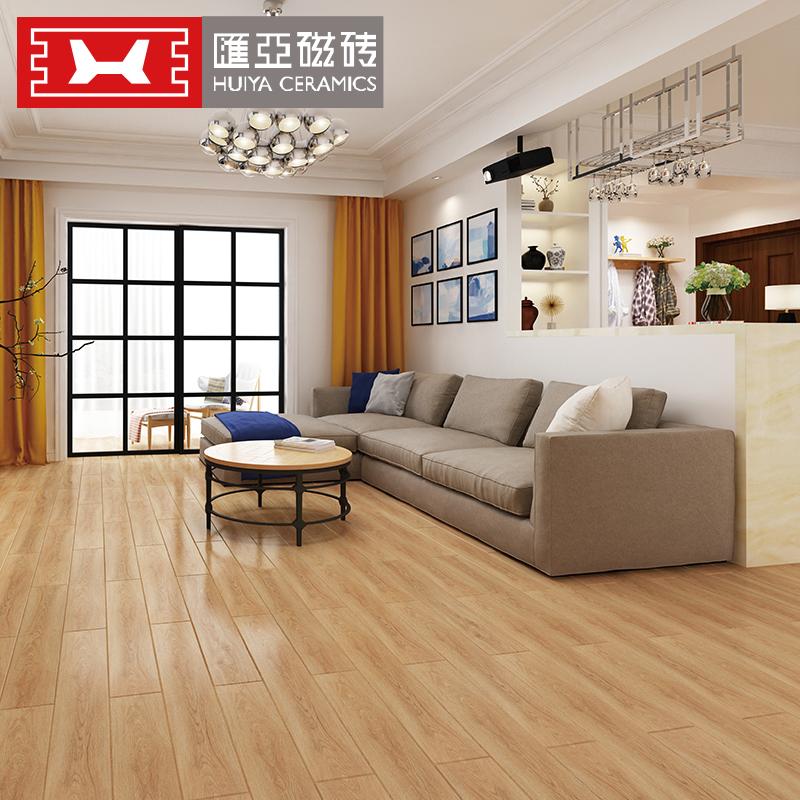 汇亚瓷砖木纹砖仿实木地板砖客厅卧室仿木纹地砖仿古砖 HMY915031