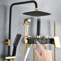 科勒正品全铜黑色暗装嵌入墙式淋浴花洒隐藏式冷热水增压花洒