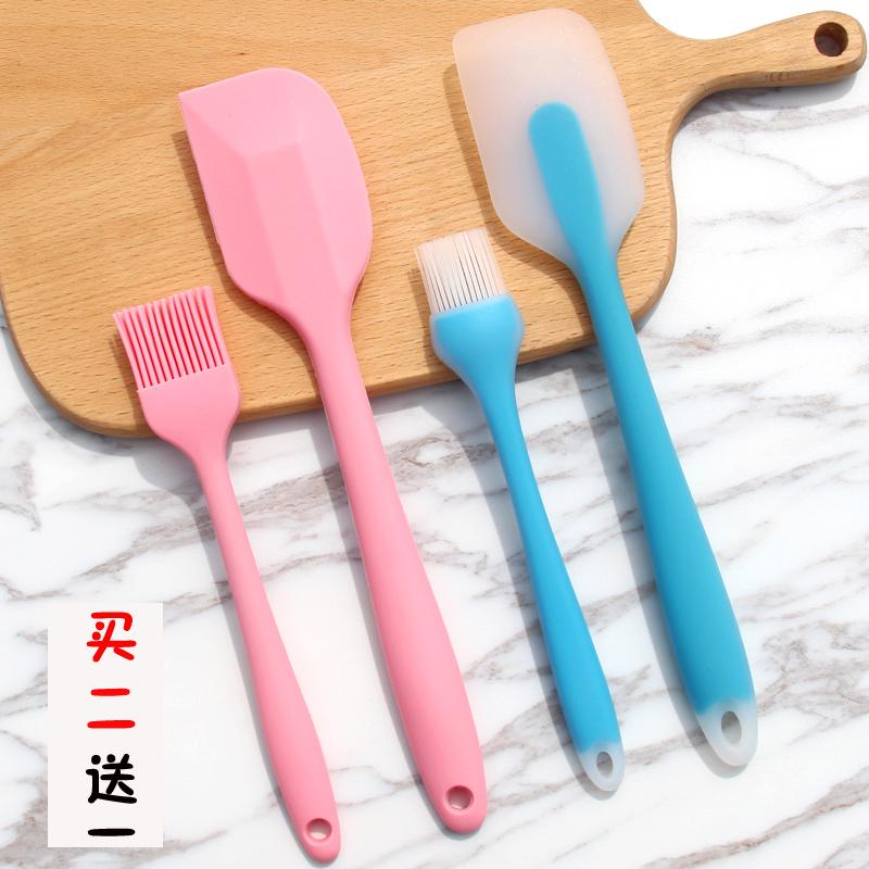 烘焙工具大号一体式硅胶刮刀 硅胶铲 牛轧糖蛋糕奶油抹刀搅拌刮板