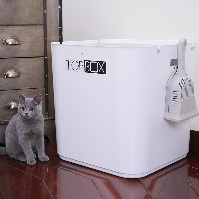顶入式猫砂盆全封闭式除臭猫屎盆超特大号猫沙盆防臭防外溅猫厕所