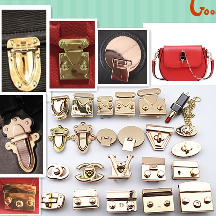 包配件锁扣  包锁包扣  女包锁扣  包包五金修包的配件包锁  插锁
