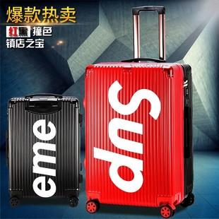 个性学生旅行李箱ins网红女抖音同款韩版原宿风密码万身轮拉杆男