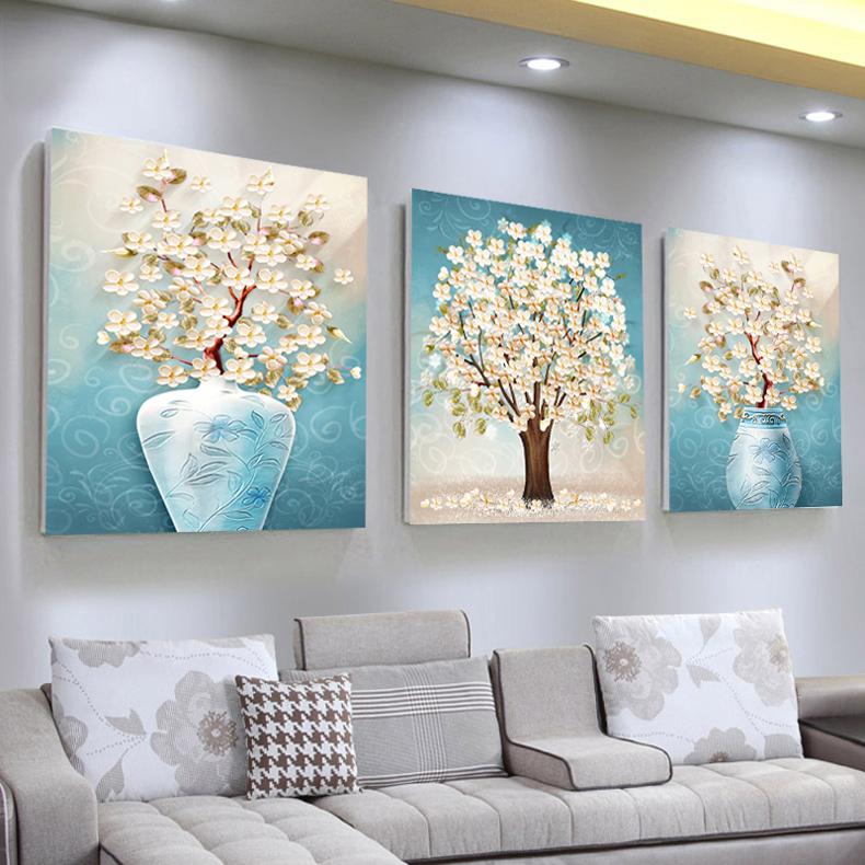 客厅装饰画现代简约大气沙发背景墙三联画壁画家居挂画墙画北欧画