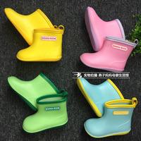 日本儿童雨鞋男童宝宝水鞋女童雨靴胶鞋小童幼儿小孩套鞋防滑防护