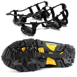 户外18齿加强型冰爪防滑鞋套雪爪冬天登山鞋钉鞋链 雪地泥地冰抓