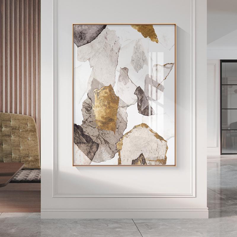 轻奢抽象玄关装饰画现代简约新中式客厅挂画卧室走廊背景墙壁画
