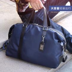 新款,旅行包男,手提,简约,尼龙,防水,短途,韩版,商务,行李袋,包包,深蓝色