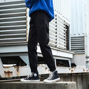春季cargo工装裤男潮牌宽松港风chic迷彩裤国潮ins运动束脚裤长裤