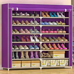 Shoe rack simple home economical multifunctional assembly student dormitory multi-layer storage shoe shelf space-saving shoe cabinet
