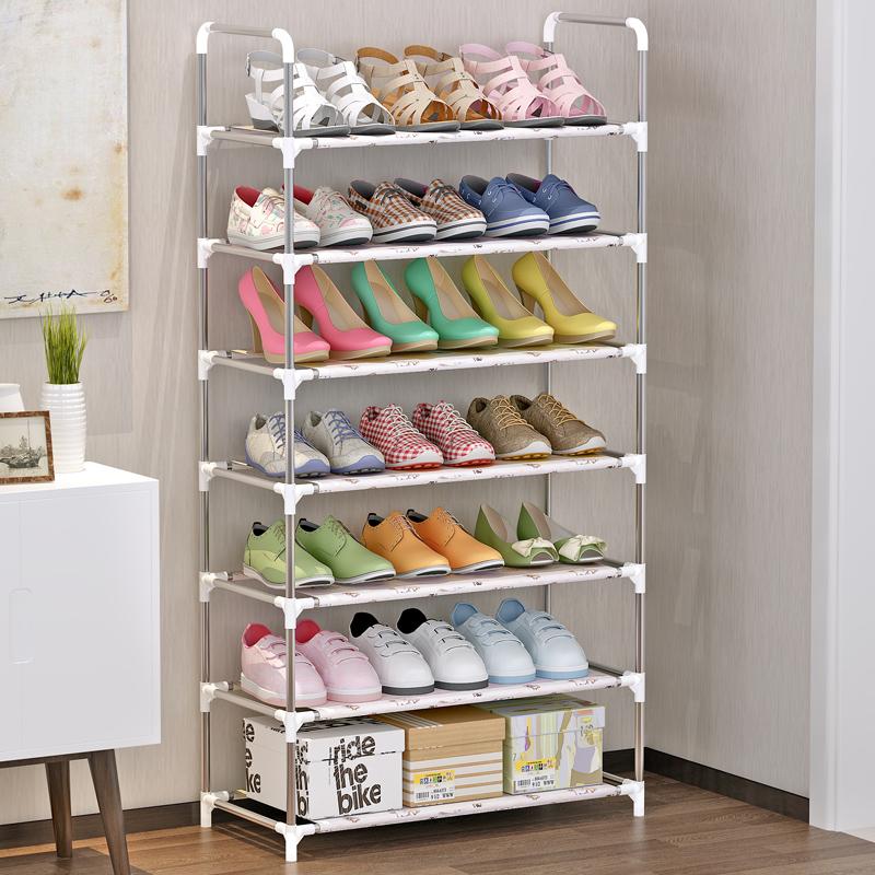 鞋架家用经济型简易鞋架置物架防锈钢管收纳架省空间门口鞋架子满46元减15元