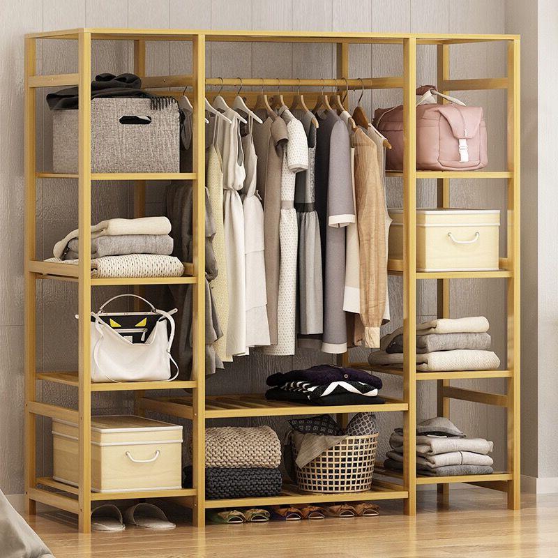 衣柜简约现代经济型组装衣柜实木卧室衣橱简易布艺小衣柜出租房用