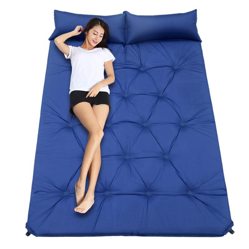 野餐垫防潮垫加厚户外地垫单双人自动充气垫午休床垫露营午睡地垫