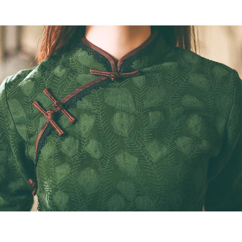 老上海旗袍秋冬改良版年轻款少女日常民国风女中长款学生复古女装