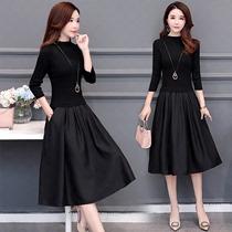 女装今年新款针织春款2021贵流行裙子长袖减龄春秋夫人春装连衣裙