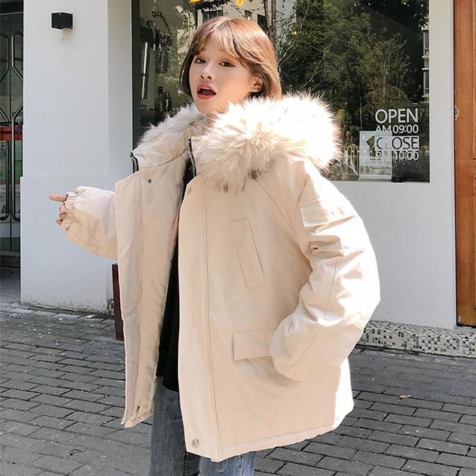 冬季新款棉服女韩版宽松bf原宿风学生短款加厚外套面包服羽绒棉袄