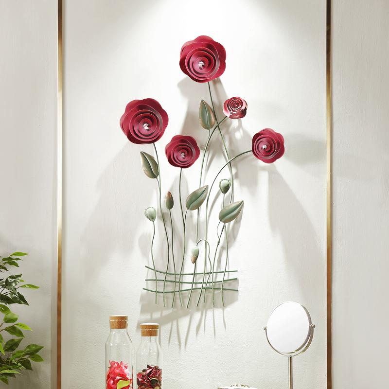 欧式客厅墙面装饰品挂件立体铁艺壁饰墙饰餐厅墙壁挂饰电视墙背景