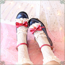 【原创ad雪姬】日系yz丽塔Lolita甜美花边蝴蝶结公主少女单鞋