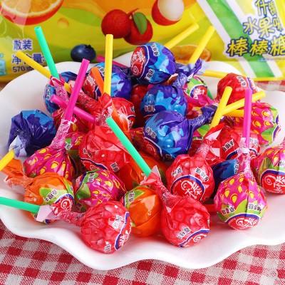 真知棒棒棒糖约100支散装水果口味箭牌儿童零食糖果结婚喜糖花束