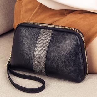 手拿包钱包女长款2020新款潮可放手机拉链真皮小包包手包女手抓包图片