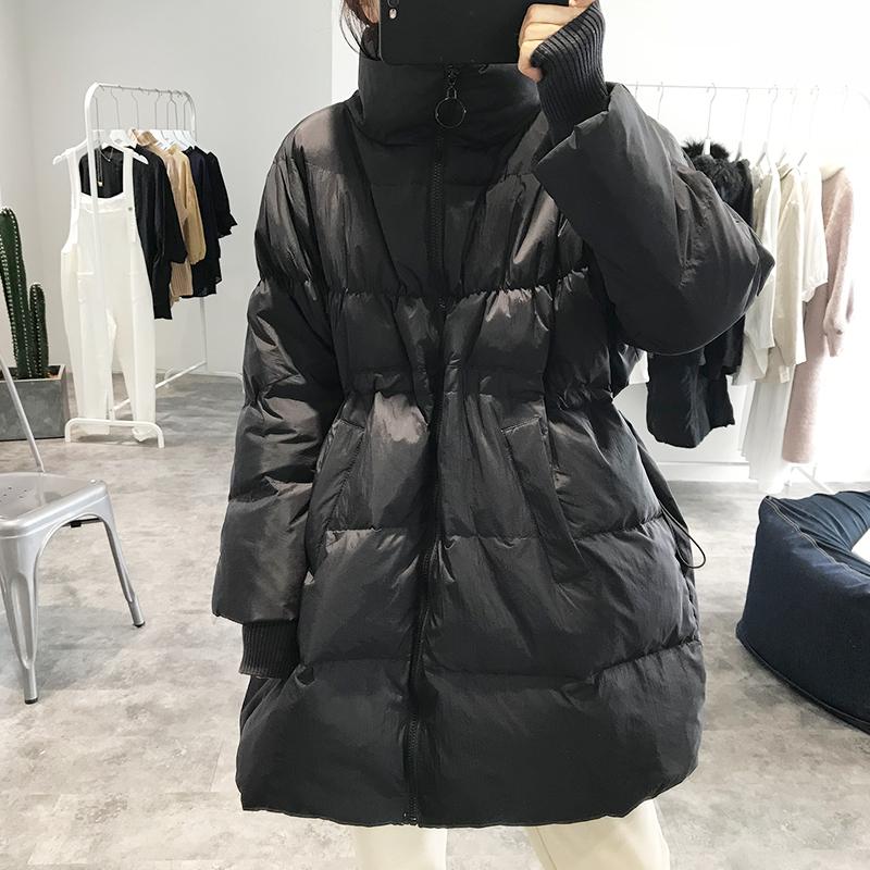 立领 羽绒服 冬季 新款 韩国 时尚 鸭绒 上衣 大门 外套